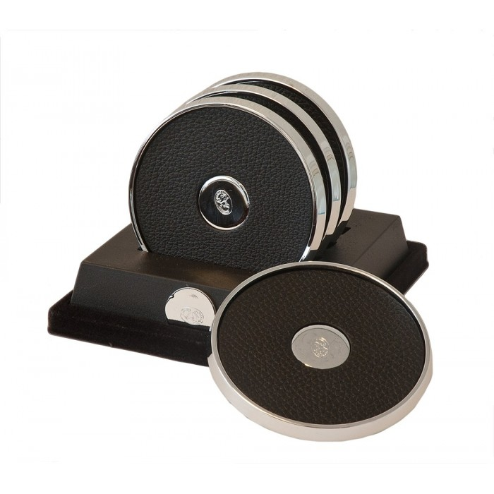 Coasters Black Chrome