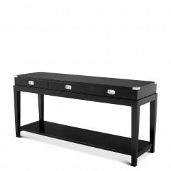 Console Table Military Black