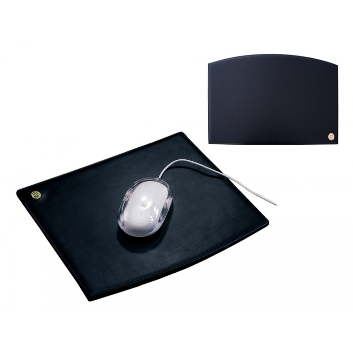 Mouse Pad Black Leather