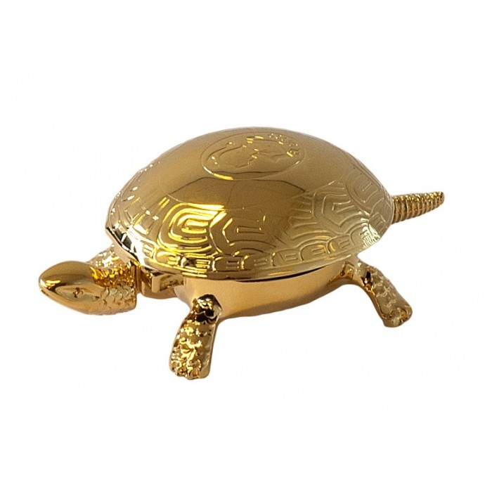 Turtle Desk Bell Gold