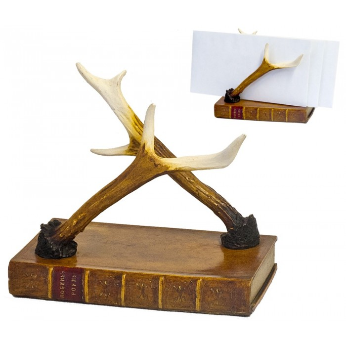 Letter Holder Book Antlers