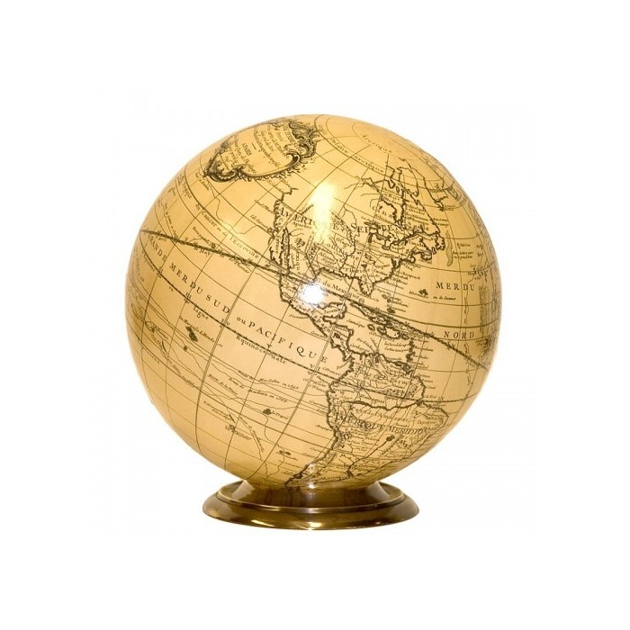 World Sepia Map Globe