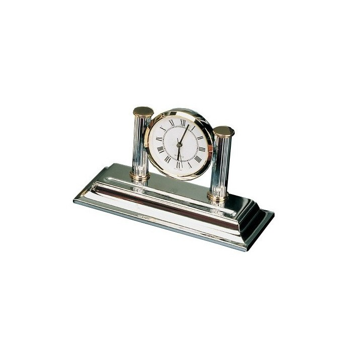 Desk Clock Chrome Gold