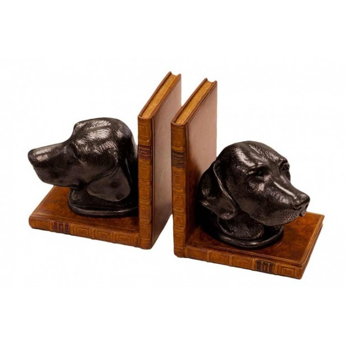 Book Ends Dog Heads