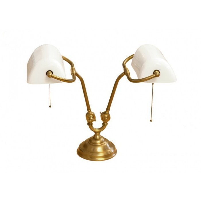 Banker Lamp White Sterling