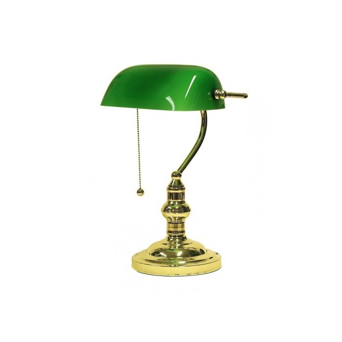 Banker Lamp Green Crown