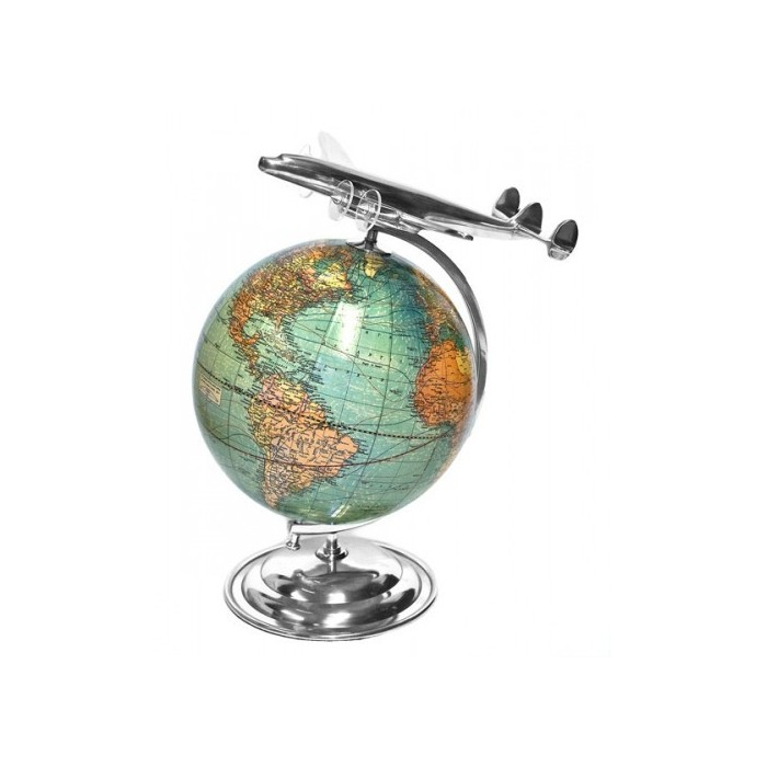 World Airplane Trip Globe