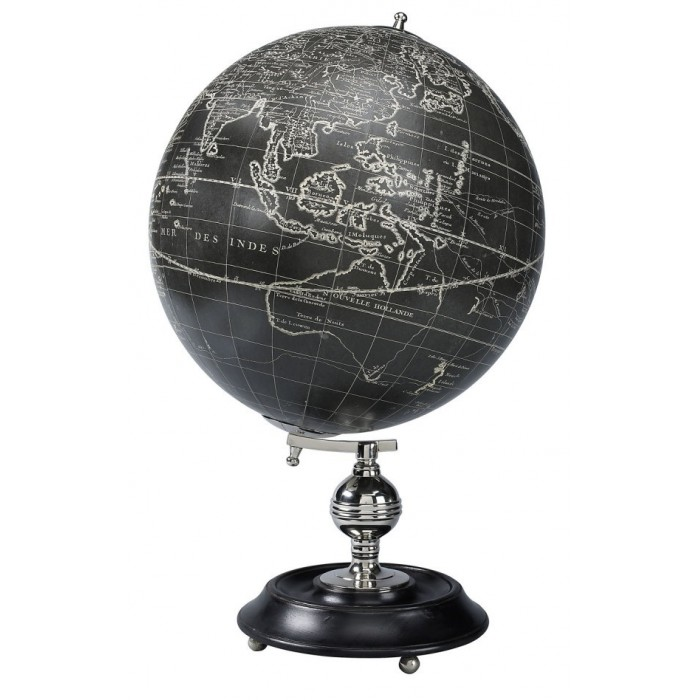 World Black White Globe