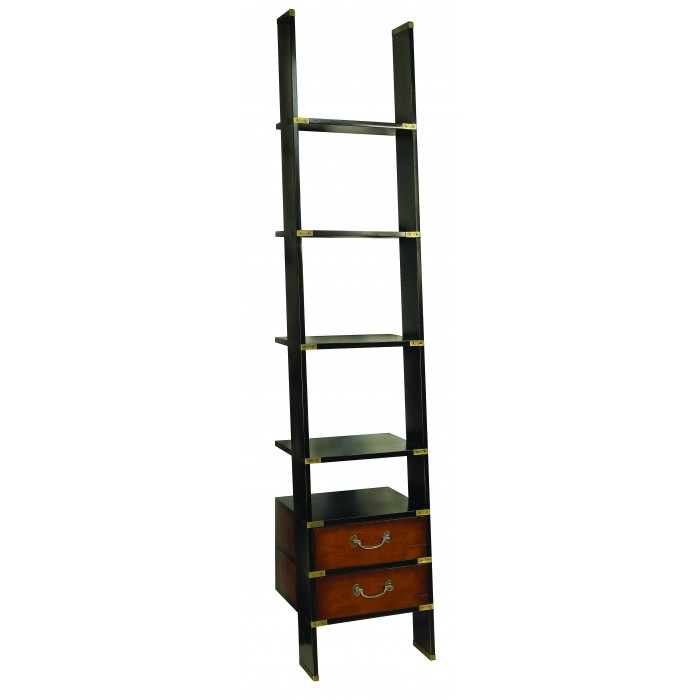 Library Ladder, 2 drawers