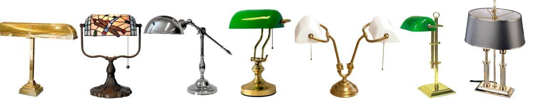 Klassieke Bureaulampen. o.a. Green Bankers LAMP