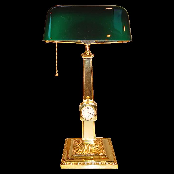 Bankers Lamp Clock
