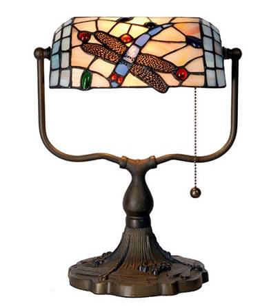 Bankers Lamp Butterfly Tiffany